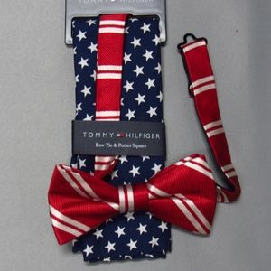 Tommy Hilfiger Bow Tie and Pocket Square NWT